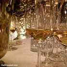 alsace white wine in glasses on a table with a spit bucket