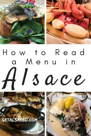 How to read a restaurant menu in Alsace France. Want to eat some Alsace food? #alsace food #alsace restaurant #alsace france
