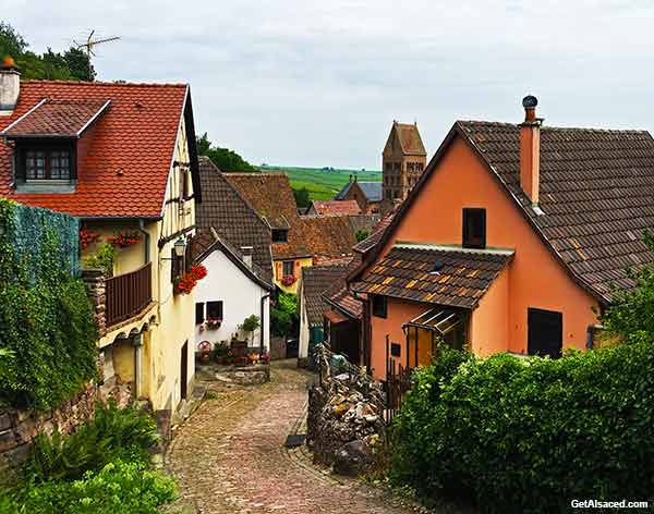 pretty Alsace village in France