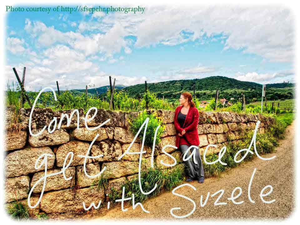 Suzele and vineyards in Alsace