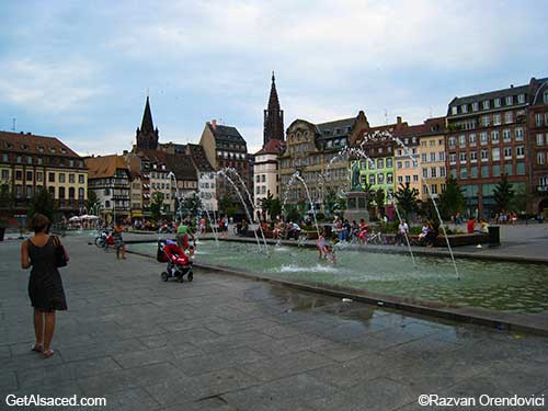 shops and hotels in strasbourg in alsace in france