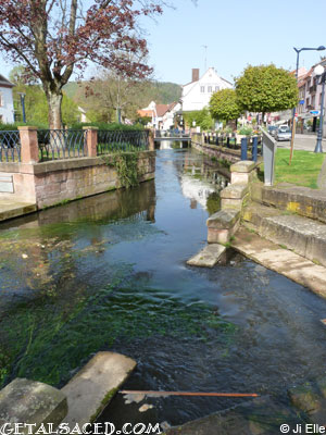 view of a canal in niederbronn les bains