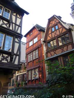traditional timber framed houses in strasbourg