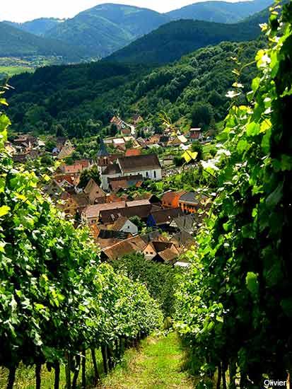 Albe village in Alsace France