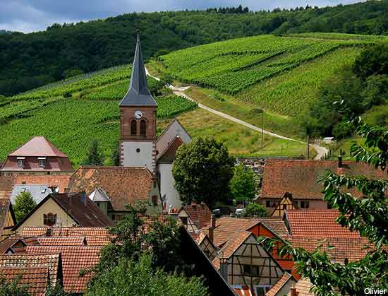 Albe an Alsace village in France