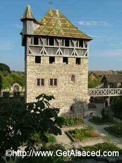 A Medieval Lord's house at the Ecomusee outdoor history museum