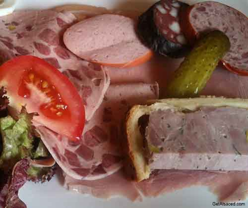 meats and sausages from alsace france