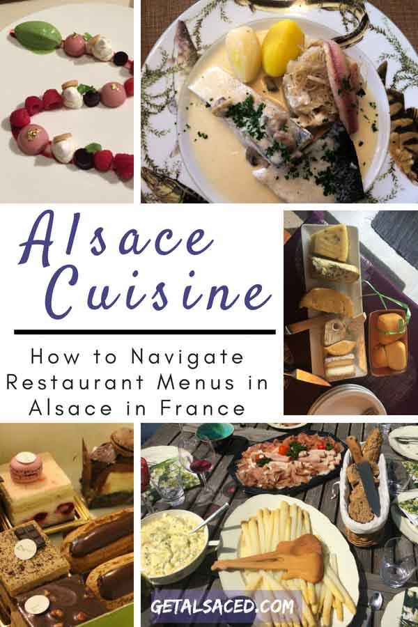 Navigating a French restaurant menu in Alsace France isn't a simple task. Learn more about Alsace restaurant food. #alsace food #alsace restaurant #alsace france