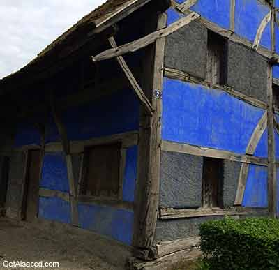 old alsace house in france