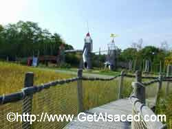 Fun playgrounds for kids at the Bioscope in Alsace