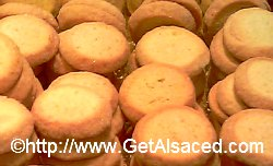 close up of butterbredele alsace christmas cookies