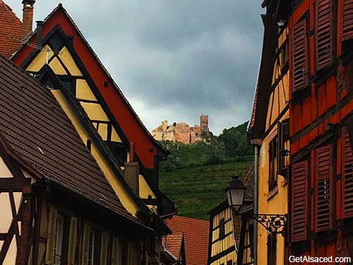 Village of Ribeauville on the Alsace Wine Route in France