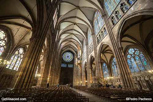 strasbourg cathedral in alsace france