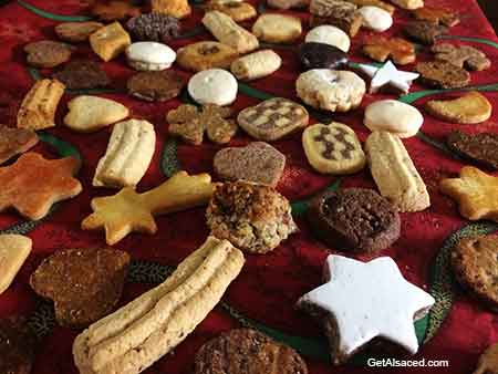 christmas cookies in alsace france