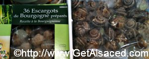 Escargots or Snails in a French Supermarket in Alsace