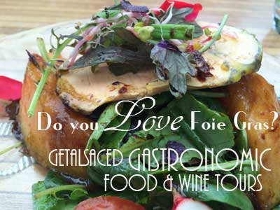 salad with foie gras