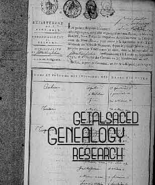 Genealogy Research Help in Alsace