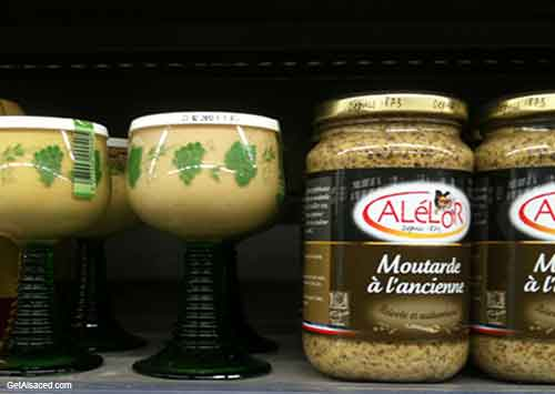 alsace mustard in the grocery store