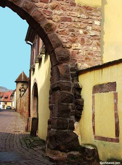 Gueberschwihr village houses in Alsace France