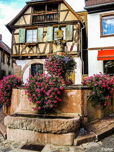 Heiligenstein a small village in the Alsace region of France