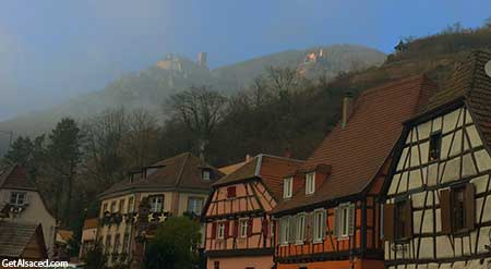 small Alsace village of Ribeauville in France