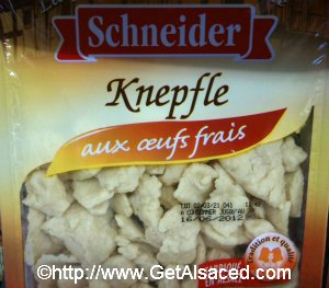 Knepfle Alsatian Pasta at the Grocery Store