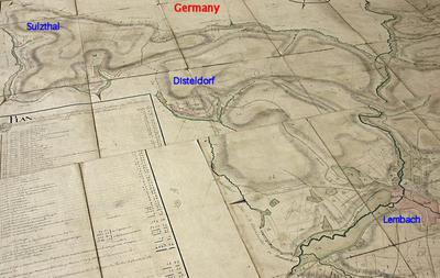 Sulzthal in relation to Lembach; don't know what the numbers mean