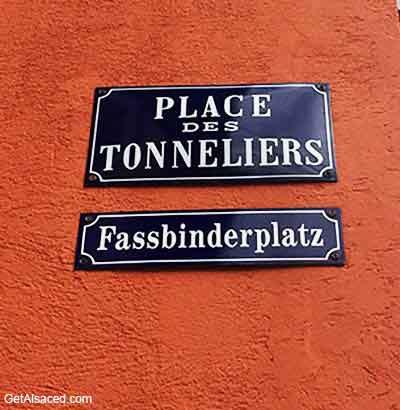 Sign in alsatian language in alsace france