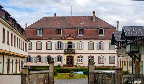 Alsace village of Ottrott in France
