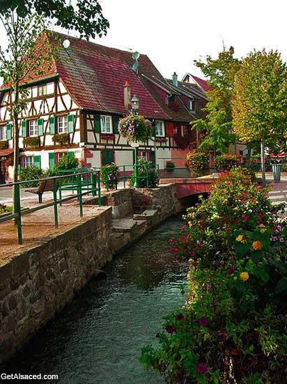 village houses in Scherwiller in Alsace France