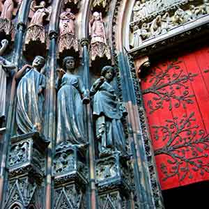 strasbourg cathedral door