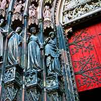 the strasbourg cathedral in alsace france