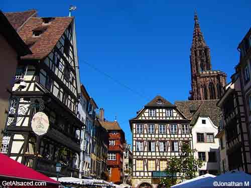 historic buildings in strasbourg in alsace france