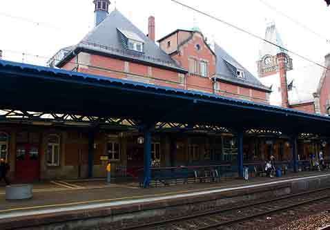 medium sized train station in alsace france