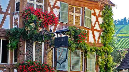Village of Turckheim on the Alsace Wine Route in France