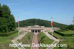 The entrance to Vieil Armand or Hartmannswillerkopf World War One memorial in Alsace