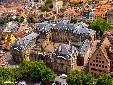 view of historic strasbourg in alsace in france