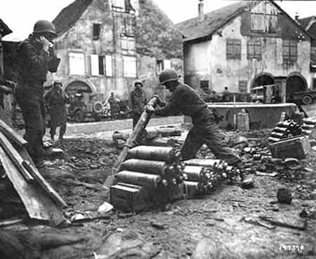 soldiers in alsace france in world war two