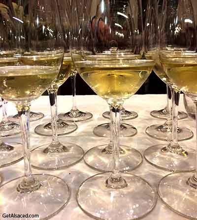 alsace wine in wine glasses
