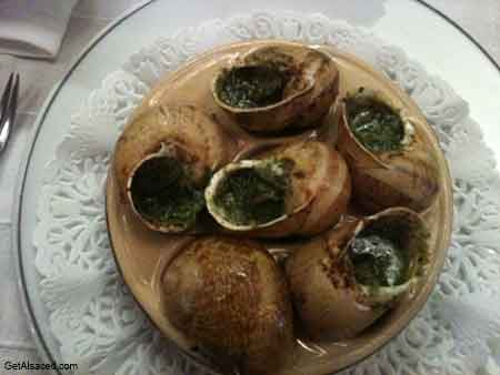 escargot from alsace france