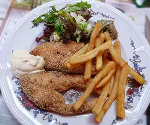fried carp from alsace france