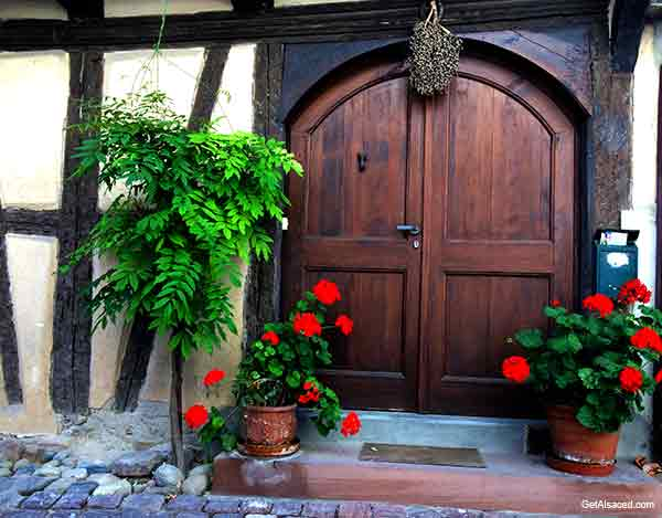 village door in alsace france