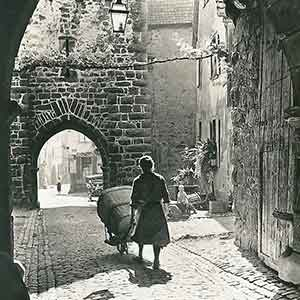 old photo of an alsace village