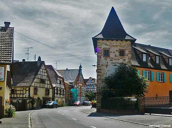 Alsace village of Beblenheim in France