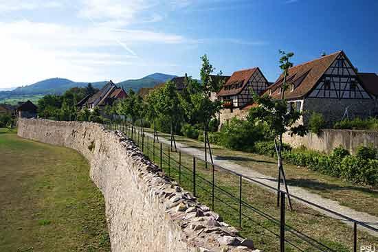 Village of Bergheim in Alsace France