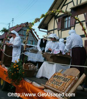 A float from a parade at an Alsatian festival