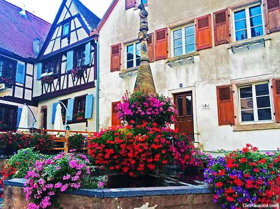village houses in Dambach la Ville in Alsace France