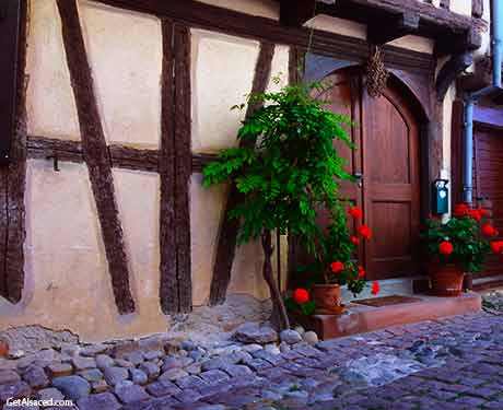 Village houses in the Alsace region of France