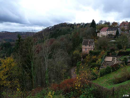 Small village of La Petite Pierre in Alsace France