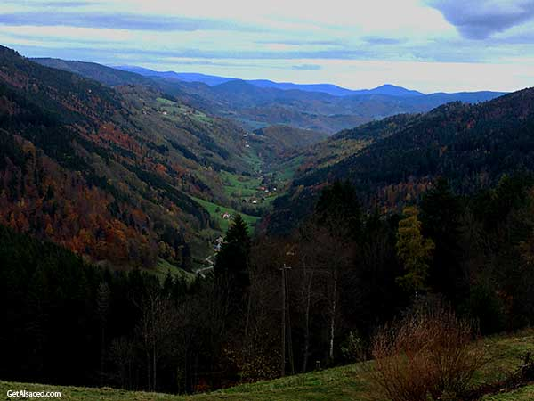 mountain valley in alsace france